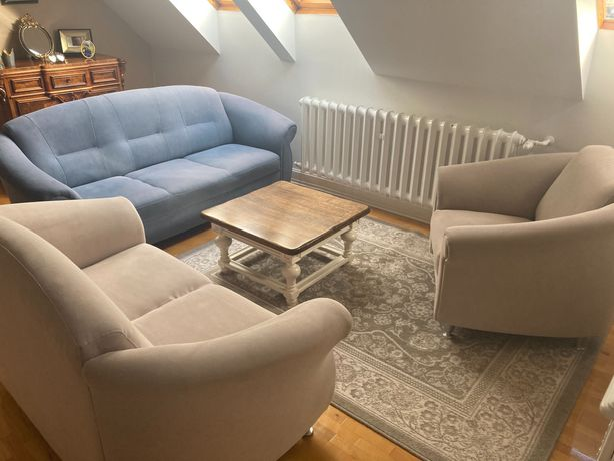 Oddam komplet - sofa 3-osobowa + 2-osobowa + fotel