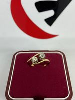 Złoty pierścionek z brylantami 0.44ct