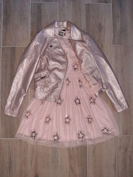 Очаровательная куртка косуха 10-11 лет
