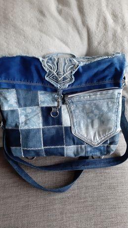Plecak torba jeansowa