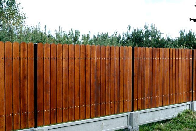 sztachety olchowe malowane drewniane suche