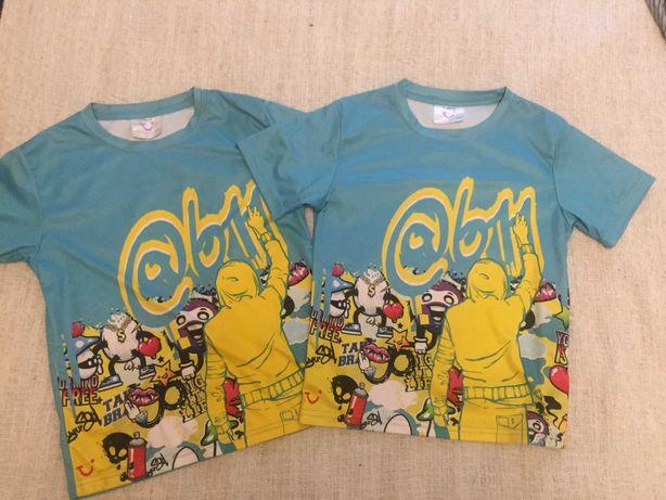 футболки разные двойня