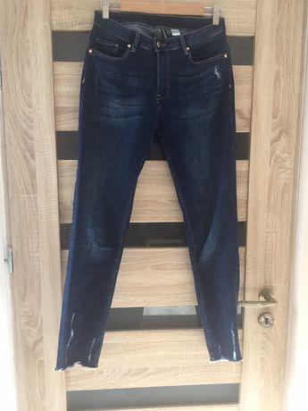 Spodnie jeansy/dżinsy z przetarciami H&M 40