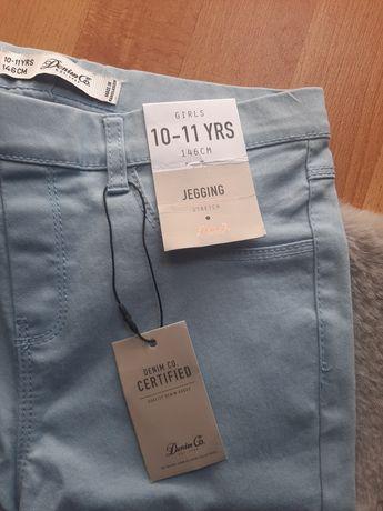 Nowe z metką spodnie dziewczęce r. 146 DenimCo jeggins