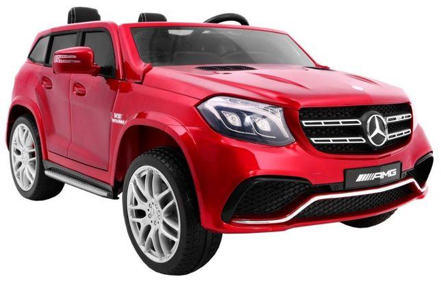 Auto na akumulator Mercedes Benz GLS 63 AMG 4WD Lakierowany Czerwony