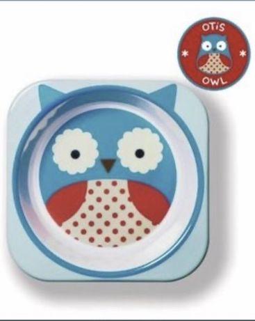 Детская тарелка skip hop owl сова тарелочка глубокая поилка