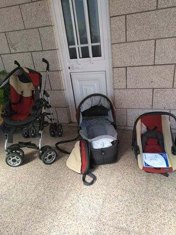 Trio da bébécar de passeio