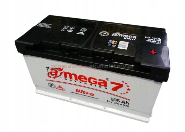 Akumulator AMEGA 7 ULTRA 105Ah 960A Jasło