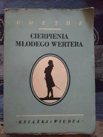 Książka cierpienia młodego Wertera Goethe