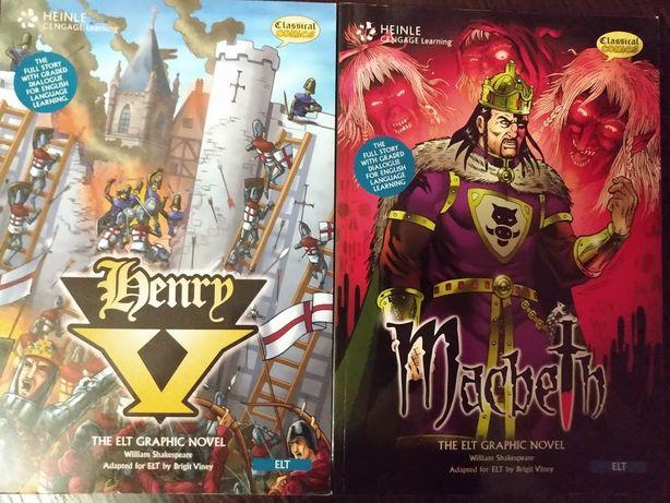 Komiksy do nauki angielskiego - Henry V oraz Macbeth NGL