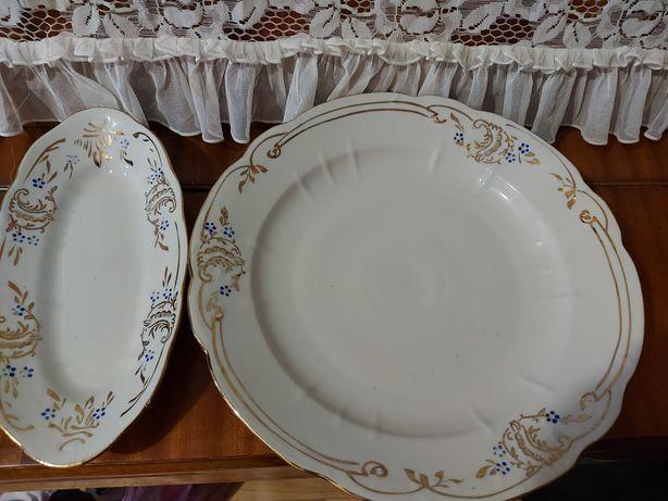 Тарелки, блюдо для пюре и набор из фарфора