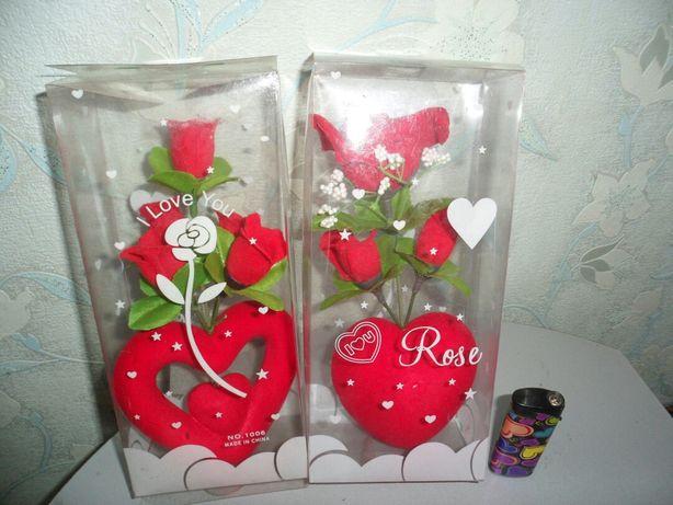 Роза подарочная в упаковке, возможна доставка