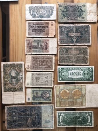 Stare banknoty marki dolary