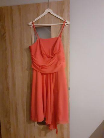 Koralowa sukienka 44