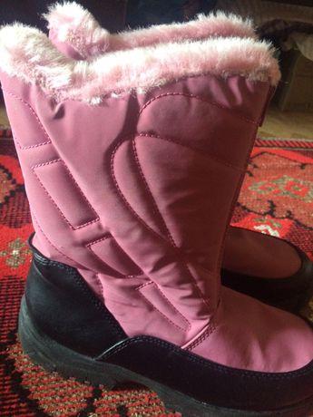 Зимові чоботи сапоги термо для дівчинки 3(34) розмір