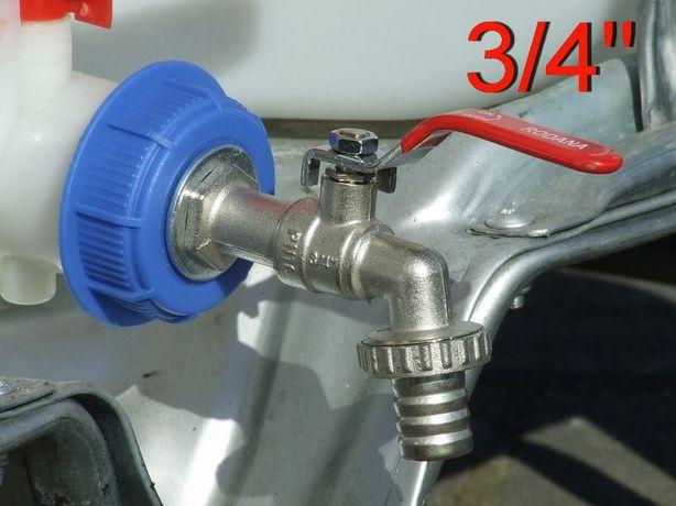 Kran 3/4 Redukcja Zawór Adapter Zbiornik Kontener 1000L IBC RSM AdBlue
