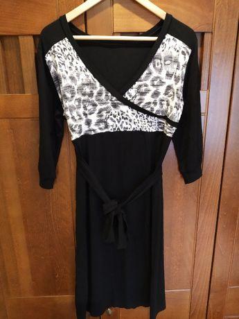 Elegancka sukienka ciążowa do karmienia polski producent czarna L XL
