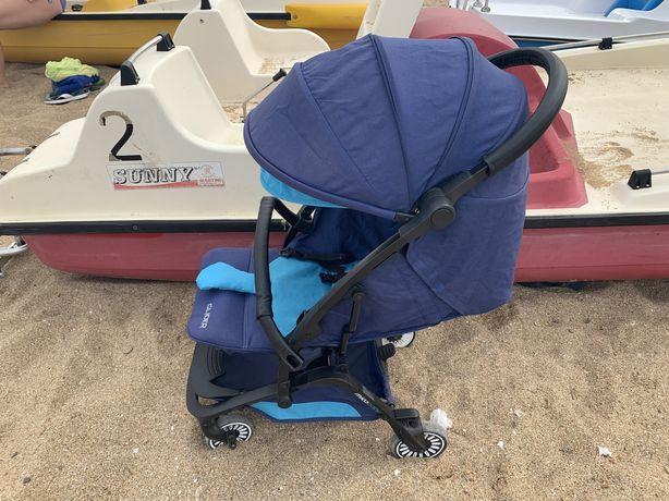 Mioobaby glider blue прогулянкова коляска візок в новому стані
