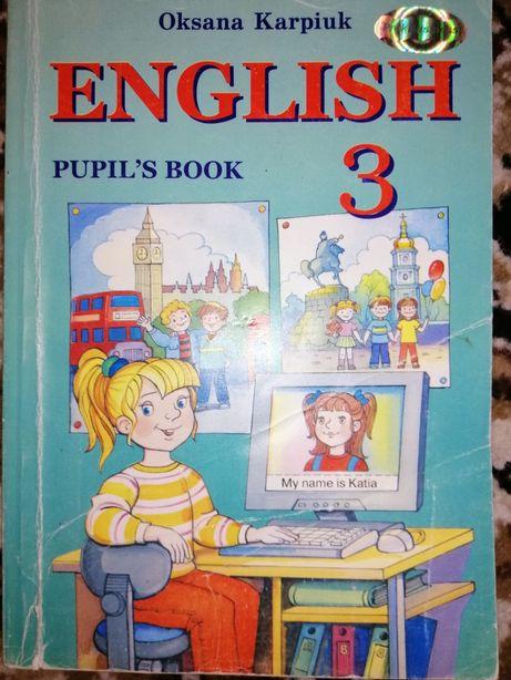 """Книга """"English"""" pupil's book 3, Oksana Karpiuk"""