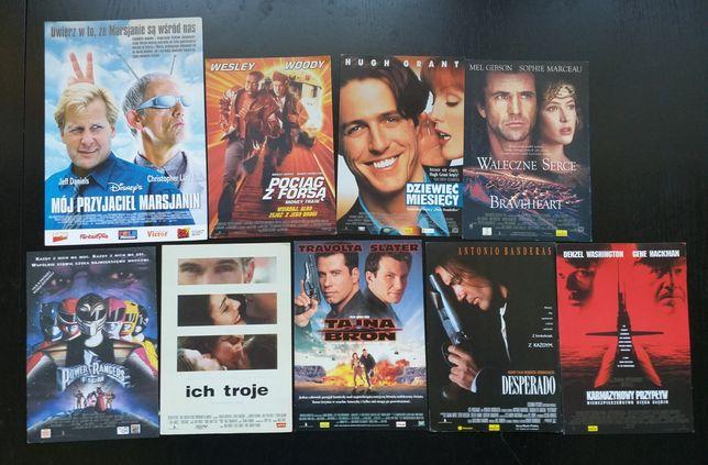 Ulotki filmowe, kinowe z lat 90 tych