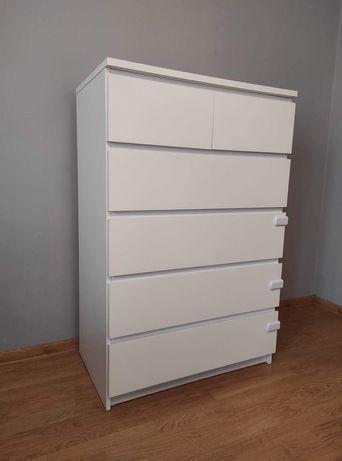 Komoda Ikea malm 6 szuflad biała