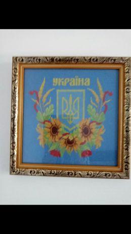Герб Украины вышивка