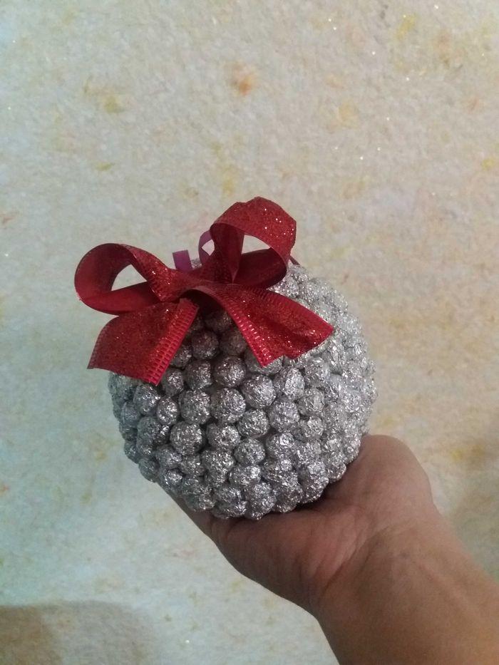 Новогодний шарик ручной работы. Славянск - изображение 1