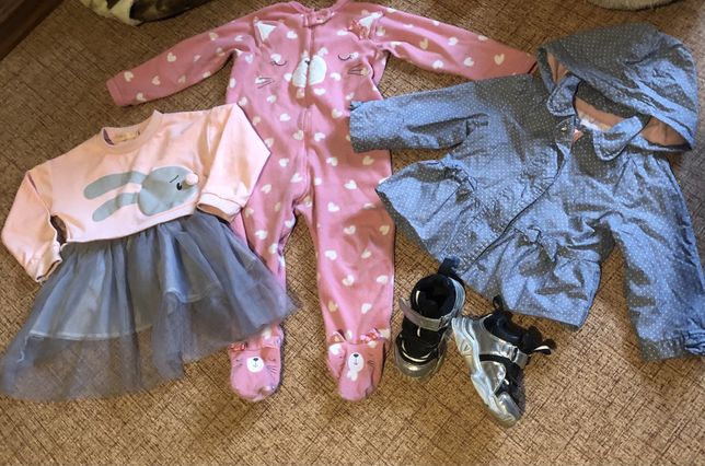 Пакет одежды на девочку 1-2 года
