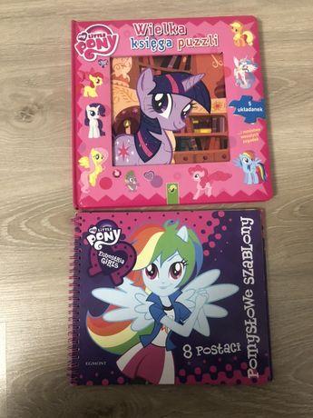 My little pony książeczka z puzzlami i szablony