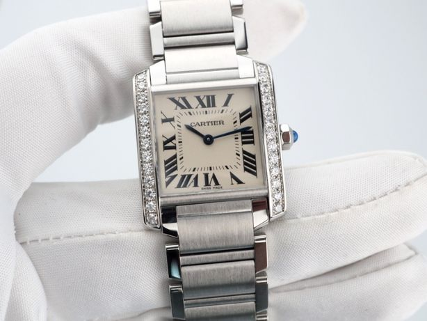 Женские новые часы Cartier Tank Diamonds