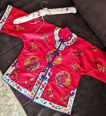Винтажное детское кимоно с вышивкой Япония