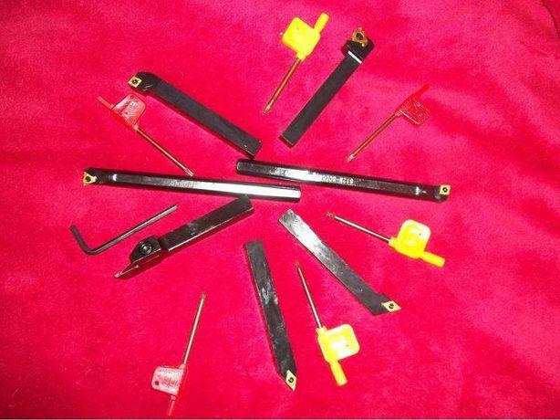 7 ferros de corte 12mm x 12mm para torno mecânico Novas