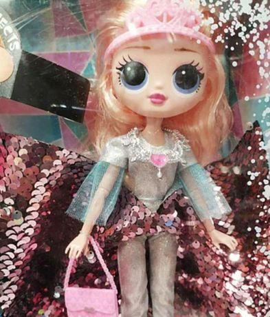 Кукла для детей в блестящем платье, айсберг с подсветкой