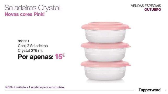 Saladeiras Crystal Tupperware