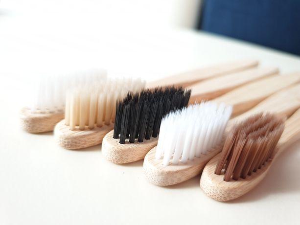 Дерев'яна, бамбукова зубна щітка еко зубная щетка