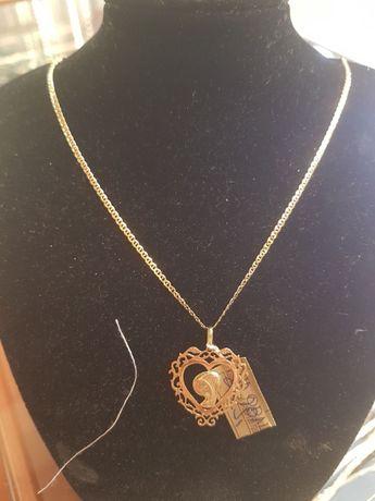 Złoty damski łańcuszek Gucci + piękna zawieszka Matka Boska pr.585
