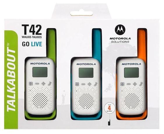 Motorola krótkofalówki TLKR T42 TRÓJPAK 4 KM