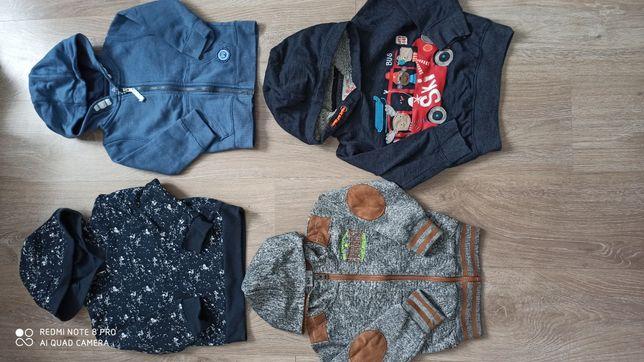 Bluzy chłopięce r. 92 dresowe