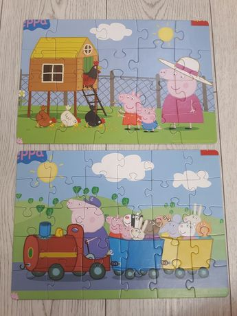Puzzle świnka Peppa - 2x