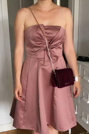 Sukienka na wesele róż rozowa H&M r. 40