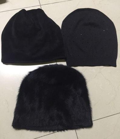 Trzy czapki damskie !