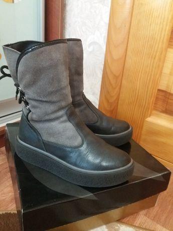 Зимние кожаные сапоги, сапожки, ботинки Masheros, р.37