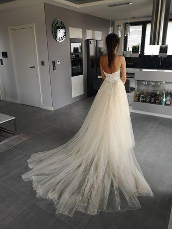 Suknia ślubna Patrycja Pardyka śmietankowa r 36