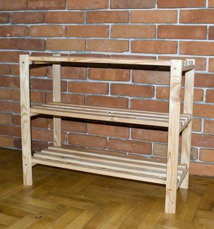szafka regał drewniana na buty 3 poziomy 62x75x30