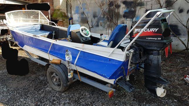 Меркури 40 + лодка+лафет