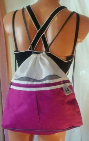 Worek / plecak fioletowo-biały