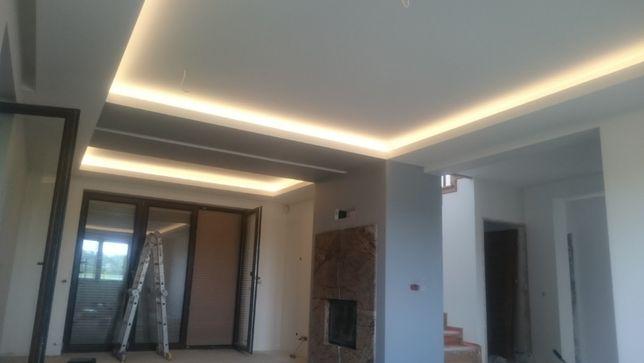 szpachlowanie,malowanie,zabudowy LED, gładzie agregatem
