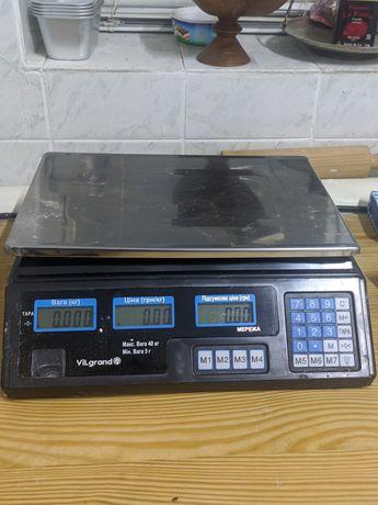 Весы торговые Vilgrand