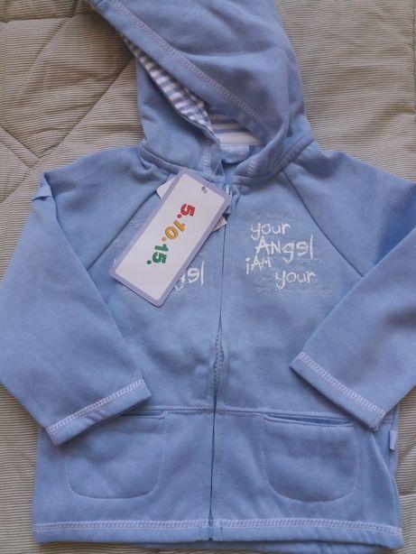Nowa bluza dla chłopczyka marki 5 10 15 rozmiar 80
