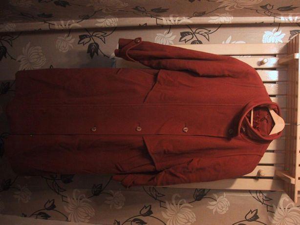 Klasyczny Płaszcz jesien/zima-bordo-wełna Hezluf Stójka L .Wysyłka